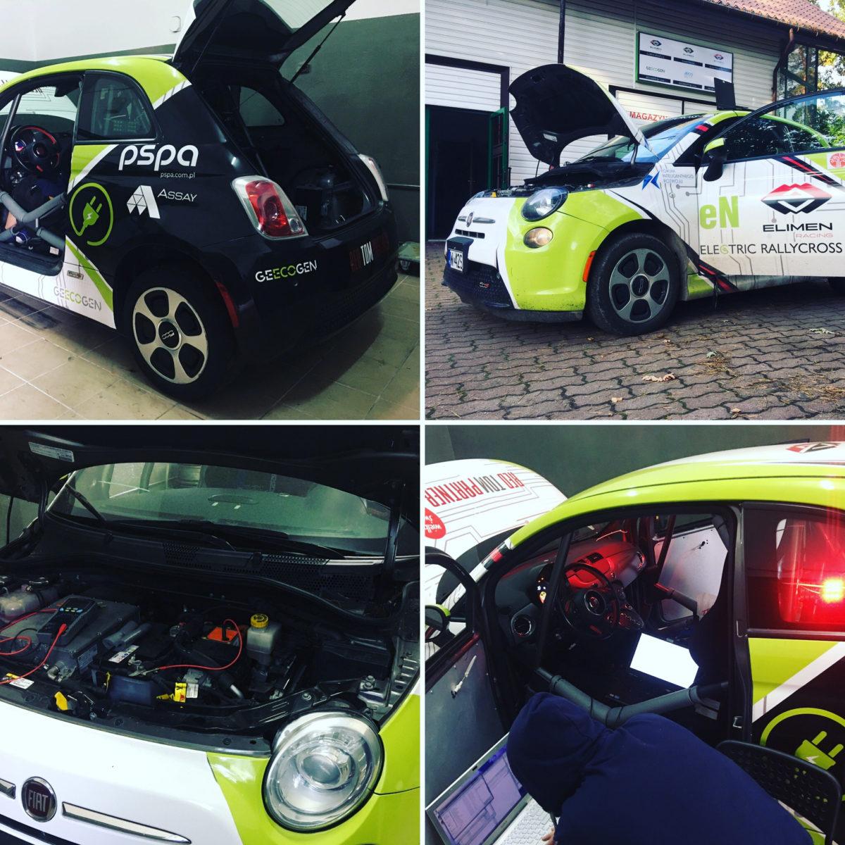 Fiat 500e Rally Cross Słomczyn 2020
